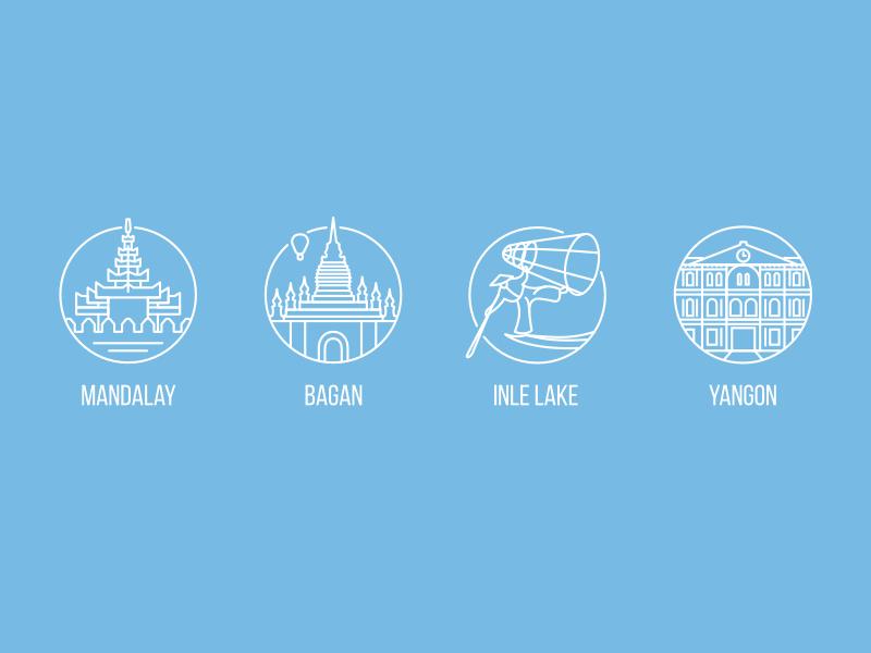 Myanmar icons