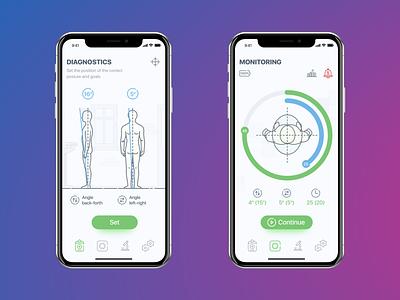 Medical Mobile App UI UX smart control children bluetooth mobile health illustration fitness medical ios interface