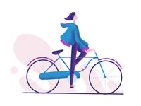 Cycling...!! visual design procreate characters illustration bike art