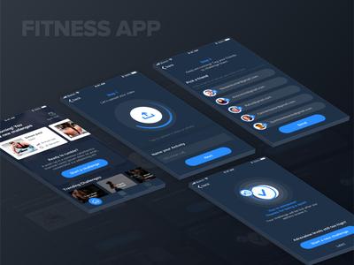 Fitness App(Dark)...!!