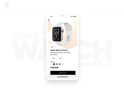 Apple Watch product page..!!