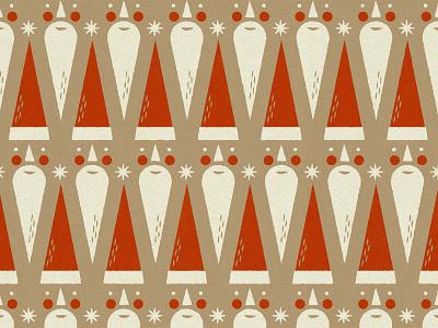 Santa Pattern christmas pattern branding holiday pattern face jolly santa hat holiday print illustration patterns christmas pattern santa