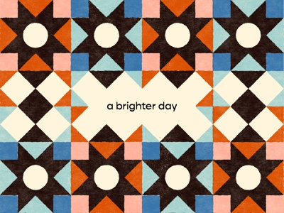A Brighter Day quilt positive 2021 brighterday texture print illustraion branding pattern