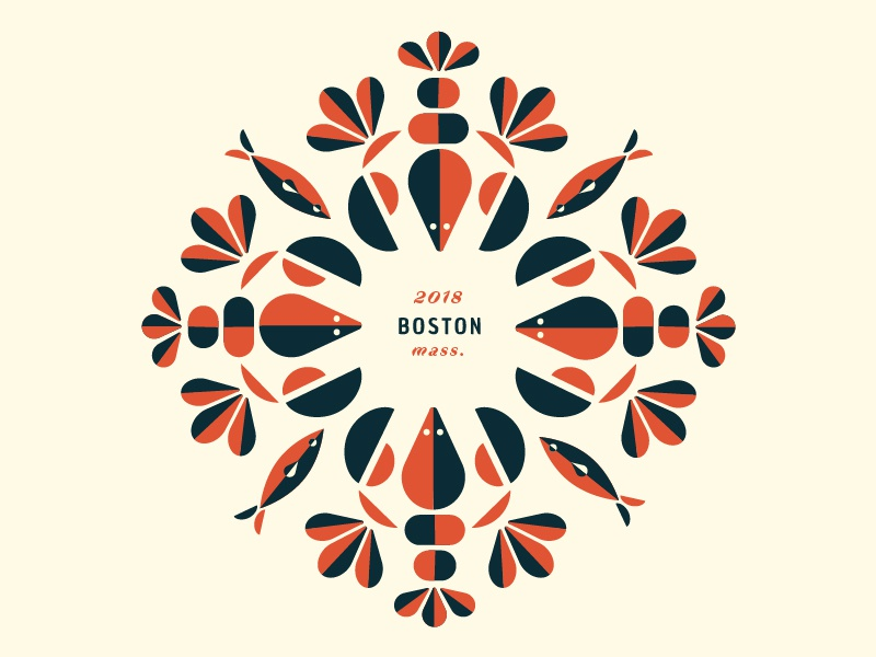 Seafood Pattern shell fish summer restaurant seafood madeleine mcmichael identity logo color palette pattern boston lobster