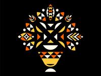 Geometric Bouquet: Orange/Yellow
