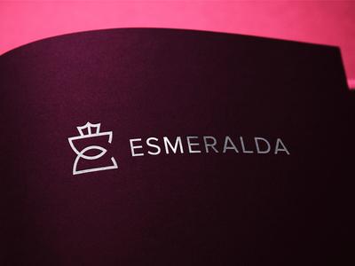 Esmeralda luxury design brand luxury brand fashion monogram crown esmeralda luxury logodesigner logofield logomark brand agency lettermark geometic symbol logo design branding logo designer logo