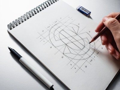 S + Anchor logo grid brand identity yelostd logofield lettermark geometic logo sketch logotype letter s monogram anchor shipping brand logo design branding logo designer logo