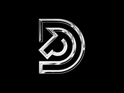 D Horse   Logo Exploration horse logo silver chrome palehorse horse logomark logofield brand agency lettermark geometic symbol logo design branding logo designer logo