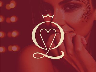 elegant YQ Monogram logo design brand agency monogram logo lettering crown love royal glamour queen jewelry elegant logo luxury branding brand logodesign logo fashion stylish luxury monogram
