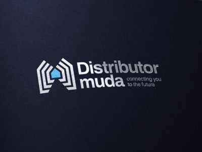 Distributor Muda Logo Design smarthome logotype brand logomark brand agency geometic symbol logo design branding logo designer logo futuristic