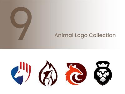 Animal Logo Collection animal abstract bird phoenix shark dragon lion horse fire fox animal logo logo design geometic symbol branding logo designer logo