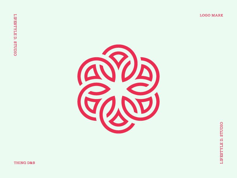 Geometric and Abstract Flower Logo Mark flower abstract icon logo designer geometic symbol logo design logo