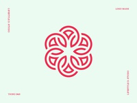Geometric and Abstract Flower Logo Mark