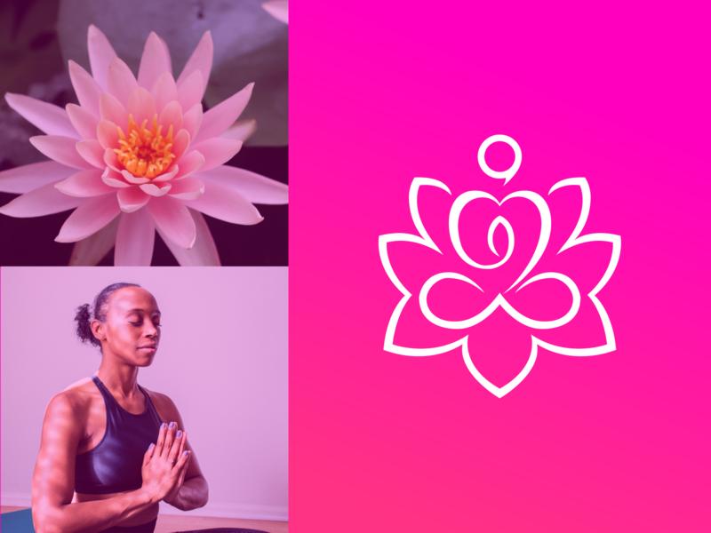 Yoga Logo Design floral silhouette abstract human element meditation flower illustration icon body design beauty lotus sign symbol vector health logo yoga spa