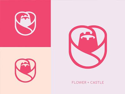Flower Castle Logo flower logo beauty castle castle logo rose flower design vector logotype logodesigner graphicdesign brand agency icon branding abstract symbol logo designer geometic logo design logo