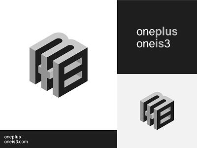 1+1=3 Logo 3dlogo isometric design logofield 3d hexagon cube number lettermark icon branding geometic logo design logo designer symbol logo