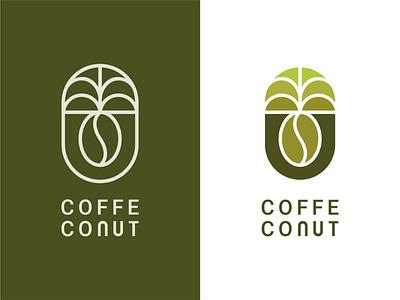 Coffe Conut Logo design logomark brand agency logo designer branding coffee bean restaurant drink logo coconut coffee