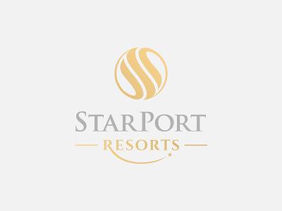 StarPort Resorts hotel elegant luxury initial monogram s logo graphicdesign brand identity brand logofield resorts brand agency lettermark branding geometic logo design symbol logo designer logo