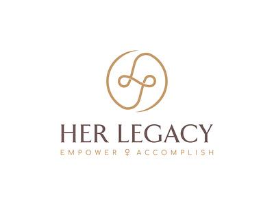Her Legacy creative agency stationery elegant letter mark monogram brand calm fashion woman feminine logofield design brand agency lettermark branding geometic logo design symbol logo designer logo