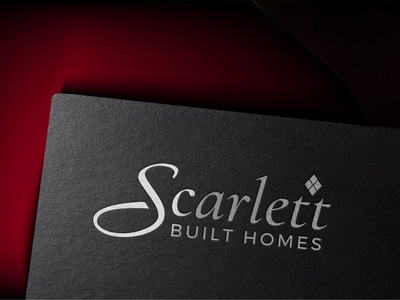 Scarlett Built Homes building home creative agency project graphic design vector logomark lettermark logo designer branding logo design symbol logofield brand design property logo real estate
