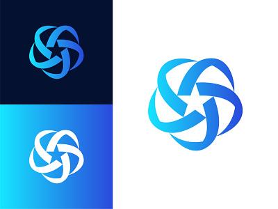 Star Orbit Logo rotate orbit brand identity logomark brand logo maker logofield review circle symmetry branding geometic logo design logo designer logo startup star