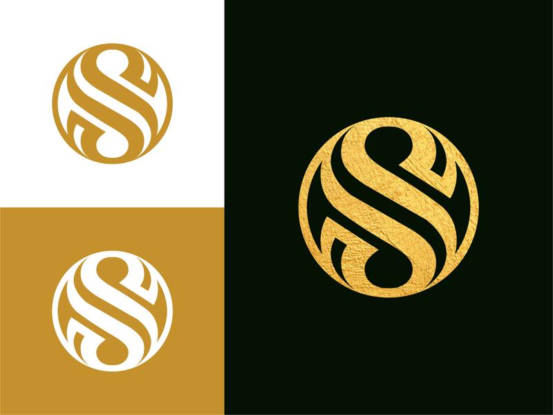 Elegant S Lettermark modern unique creative iconic brand agency branding geometic symbol lettermark elegance suave geometric symmetric s luxury circle logofield monogram logo elegant
