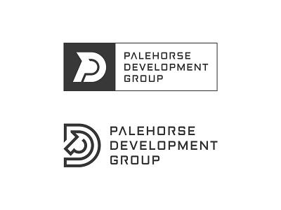 Palehorse Development Group Logo logofield logo design lettermark geometic brand agency horse logo construction branding brand logo palehorse horse