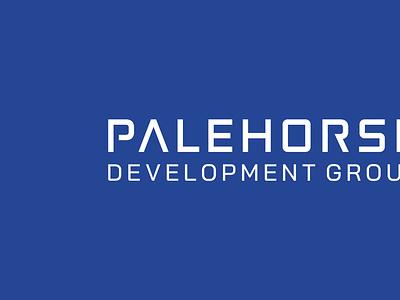 Palehorse Development Group | Logo Project brand company logo creative agency logo designer logofield design process concept project branding shield horse logo construction horse palehorse