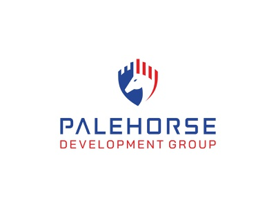 Palehorse Development Group | Logo Project brand company logo creative agency logo designer logofield design process concept project branding shield horse logo construction horse palehorse