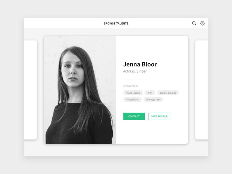 Daily UI Challenge #5 - Profile user profile ipad uidesign uxdesign actor browse resume portfolio