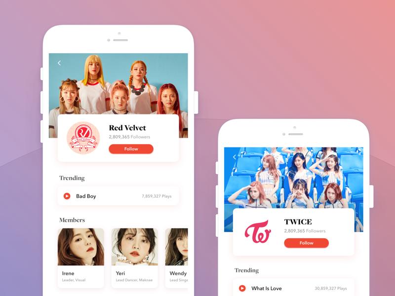 K-pop group profile ios profile kpop twice velvet red
