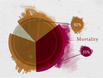 Pie Chart for Virology Timeline info design info graphics data visualization pie chart rit new media design