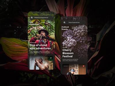 Airbnb Experiences contextual recommendations ios mobile app ux design gui ui airbnb
