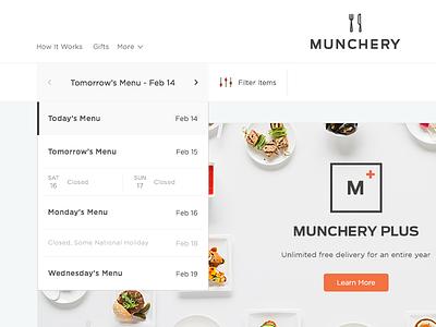Date Selector Menu menu bar date drop-down ui