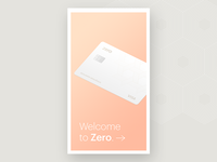 Zero App Intro Screen