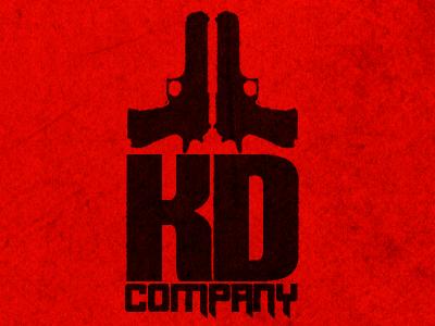 KD Company v1 guns mafia gang company typography illustration grungy
