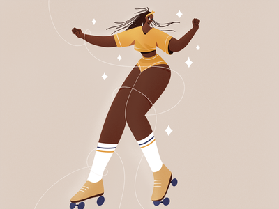 Oumi Janta sport woman dance people procreate girl character texture characters shape flat 2d illustration