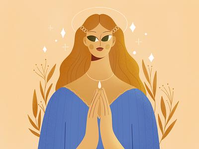 Angel belief angel people procreate girl vector texture characters shape flat 2d illustration