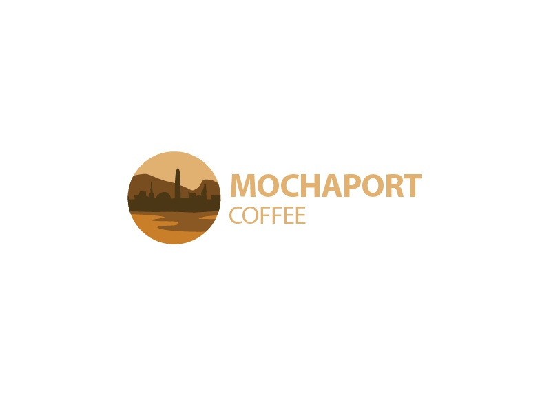 Mochaport Coffee branding logo beans coffee city illustrative port mocha illustration