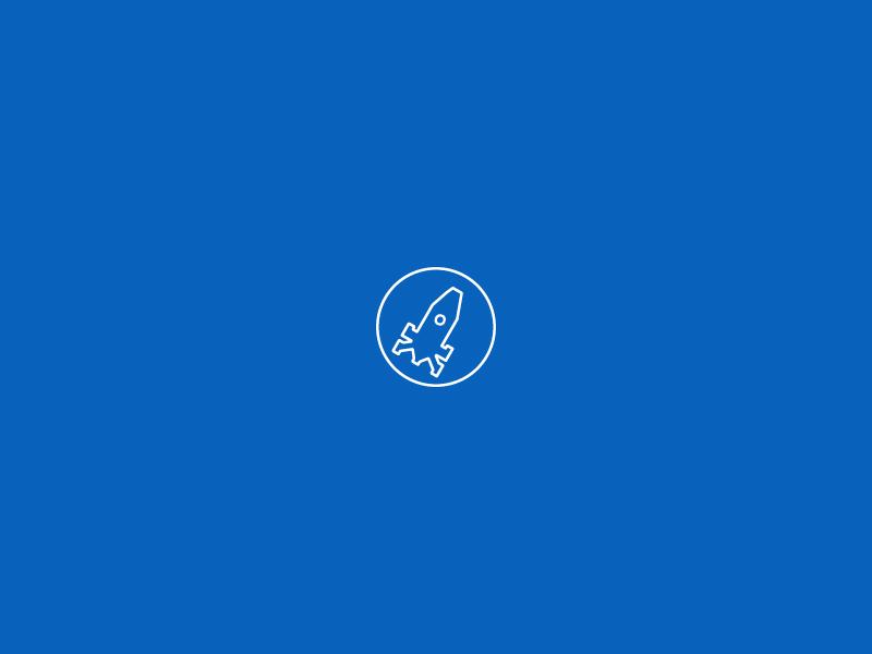makook blue big data branding logodesign logo digital marketing startup line icon rocket