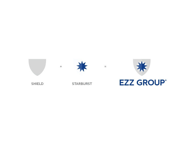 Ezz Group Logo Concept process starburst shield export import star startup canada ontario mba