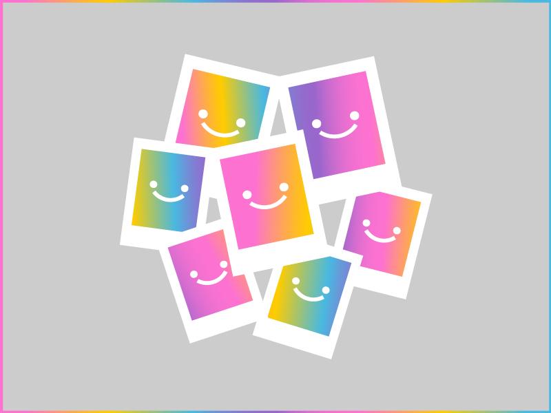 BOKYBOK Photos photobook photo pattern print photos app startup branding logo identity celebration colorful