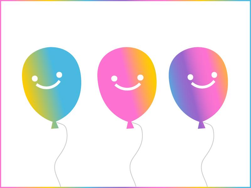 BOKYBOK Balloons balloons photobook photo pattern print photos app startup branding identity celebration colorful