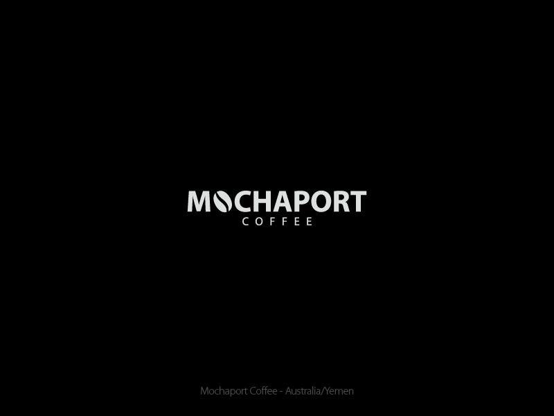 Mochaport Coffee B&W startup wordmark logo design yemen australia coffee port mocha