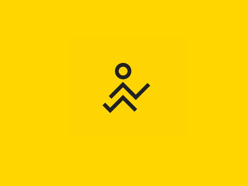 RoadRunners logo design symbol branding startup delivery runners runner road