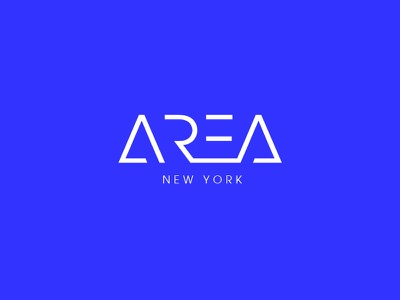 Area New York wordmark logo design branding rental real estate property sales marketing new york area