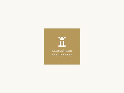 RAK Chamber human achievement leadership gear crown eagle castle chamber branding symbol financial commerce