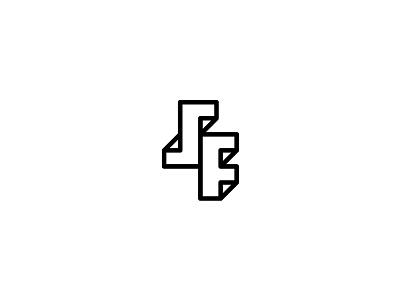 SF Monogram logodesign logo pattern symbol paper fold folding file mark