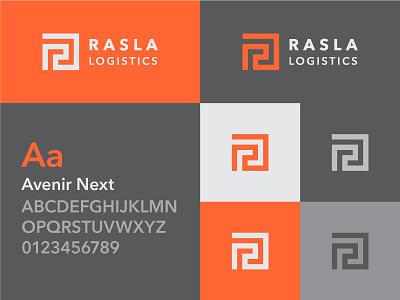 RASLA Logistics logo design logo r saudi arabia ksa iconic corporate branding transportation rasla identity logistics