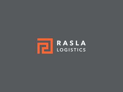 RASLA Logistics logo design ksa saudi arabia r logo iconic corporate branding transportation rasla identity logistics